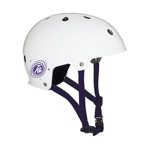 ケーツー(K2) ジュニア ヘルメット JR VARSITY マット×ホワイト×パープル Lサイズ I1804002016 プロテクター キッズ 子供用