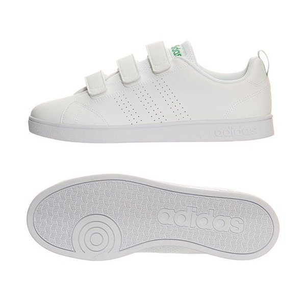 アディダス(adidas) ネオ(NEO) バルクリーン2 VALCLEAN2 CMF ベルクロ ホワイト/グリーン AW5210 アディダスネオ スニーカー メンズ レディース|esports|02