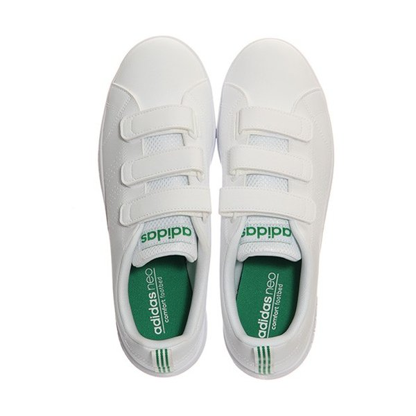 アディダス(adidas) ネオ(NEO) バルクリーン2 VALCLEAN2 CMF ベルクロ ホワイト/グリーン AW5210 アディダスネオ スニーカー メンズ レディース|esports|04