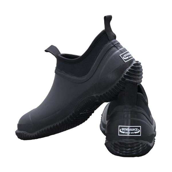 サンダンス(sundance)メンズレディースキャンピングレインシューズブラックCRS-001ワークシューズレインブーツ雨具靴作