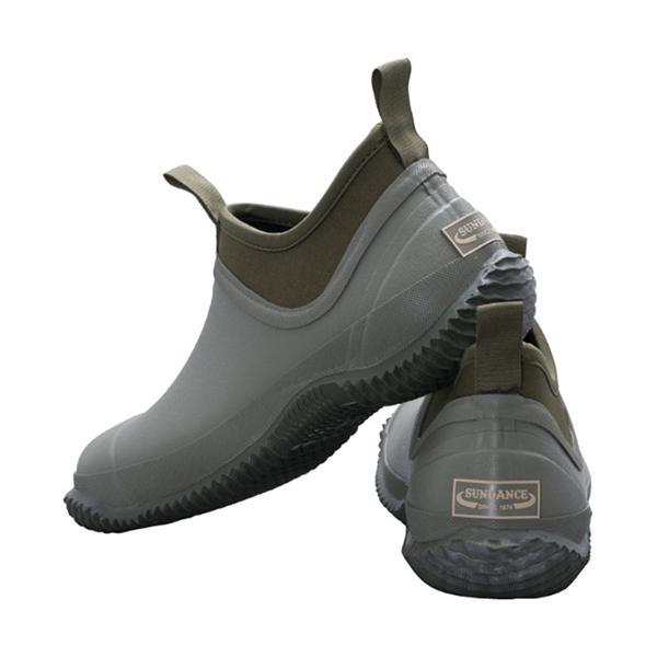 サンダンス(sundance)メンズレディースキャンピングレインシューズカーキCRS-001ワークシューズレインブーツ雨具靴作業