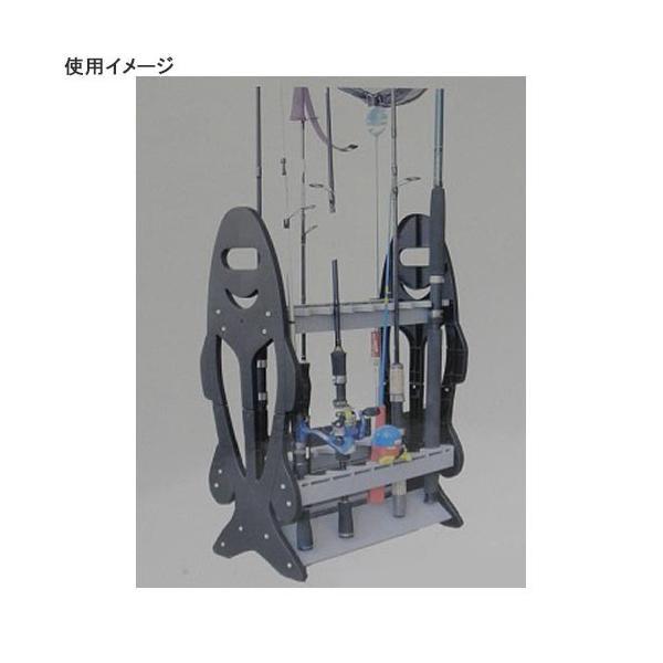 ファインジャパン(FINE JAPAN) ロッドスタンド(16本) BK 80×25×44cm RS-8122 釣り フィッシング 竿掛け ブラック