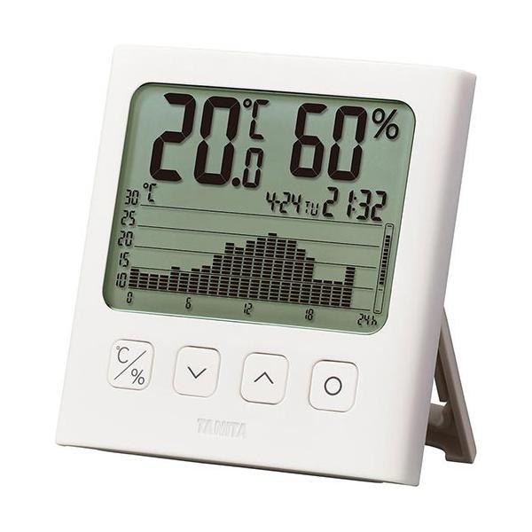 タニタ グラフ付きデジタル温湿度計 TT-581 ホワイト TT-581-WH インテリア 時計 温度計 湿度計