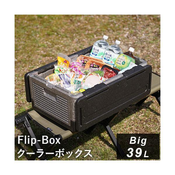 フリップボックス(Flip-Box) ビッグ 折りたたみ クーラーボックス 大型 39L 保冷保温 ハードクーラー ソフトクーラー アウトドア キャンプ 保冷バッグ|esports