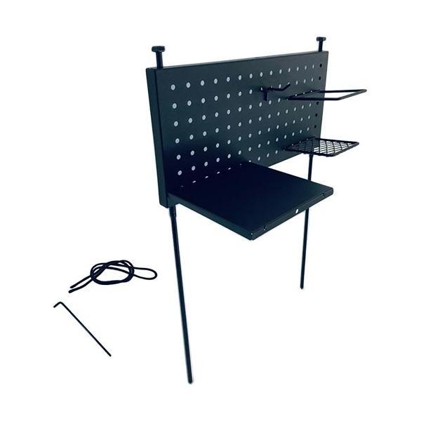 尾上製作所(ONOE)パンチングサイドテーブルPT-4020収納調理台キャンプ調理器具バーベキューアウトドア