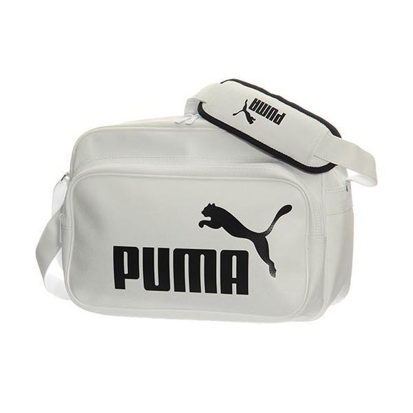bf0b1d636dcc プーマ(PUMA) トレーニング PU ショルダーバッグ M プーマホワイト 075370 05 エナメルバッグ スポーツ