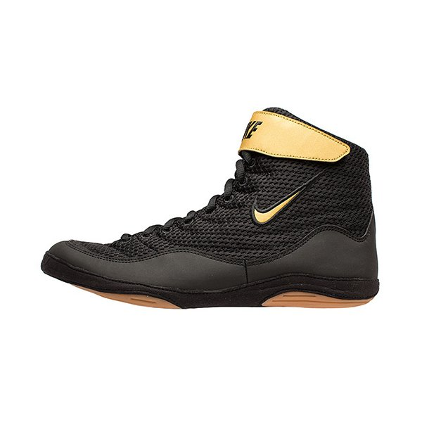 ナイキ(NIKE) メンズ レディース レスリングシューズ INFLICT LIMITED EDITION ブラック/ベガスゴールド 325256 004 レスリング 格闘技 シューズ 靴