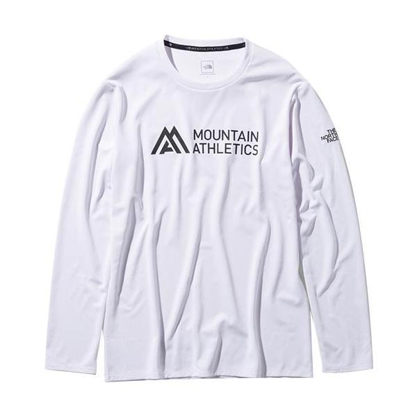 ノースフェイス(THE NORTH FACE) メンズ Tシャツ ロングスリーブアンペアMAクルー L/S Ampere MA Crew ホワイト NT61985 W トップス 長袖 トレーニングウェア|esports