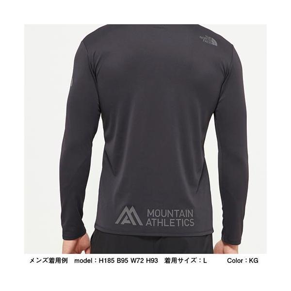ノースフェイス(THE NORTH FACE) メンズ Tシャツ ロングスリーブアンペアMAクルー L/S Ampere MA Crew ホワイト NT61985 W トップス 長袖 トレーニングウェア|esports|04
