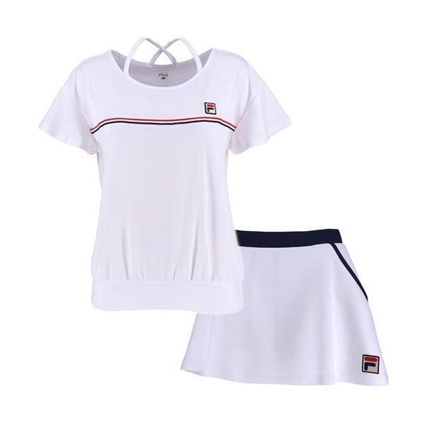 c9035c59cc32e フィラ(FILA) レディース テニス ゲームシャツ & スコート 上下セット ホワイト VL1916 01/