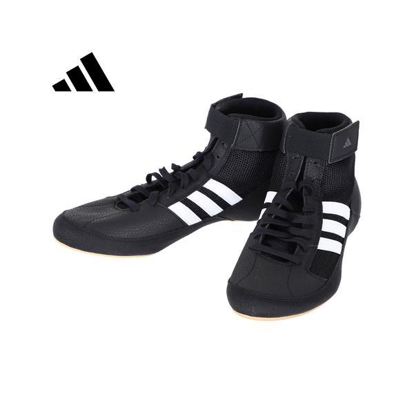 アディダス(adidas) レスリングシューズ HVC WRESTLING SHOES エイチブイシー コアブラック/ホワイト/アイロンメット KDO02 AQ3325 レスリング ボクシング