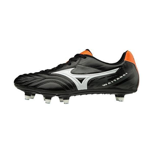 ミズノ(MIZUNO) メンズ ラグビー シューズ ワイタンギ WAITANGI CL ブラック×ホワイト R1GA180101 ラグビーフットウェア 靴|esports