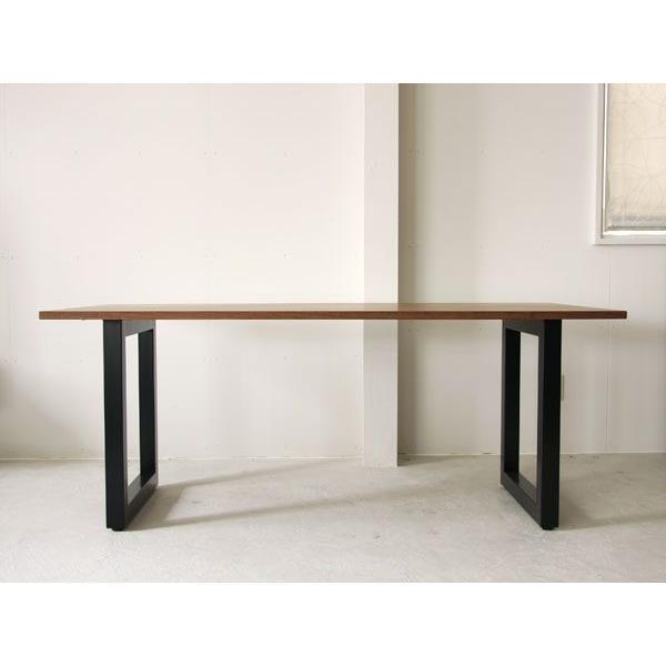 マスターウォール ワイルドウッド ダイニングテーブル W1600  ウォールナット スチールレッグス WWDT16065SL-WN Masterwal|esprit|02