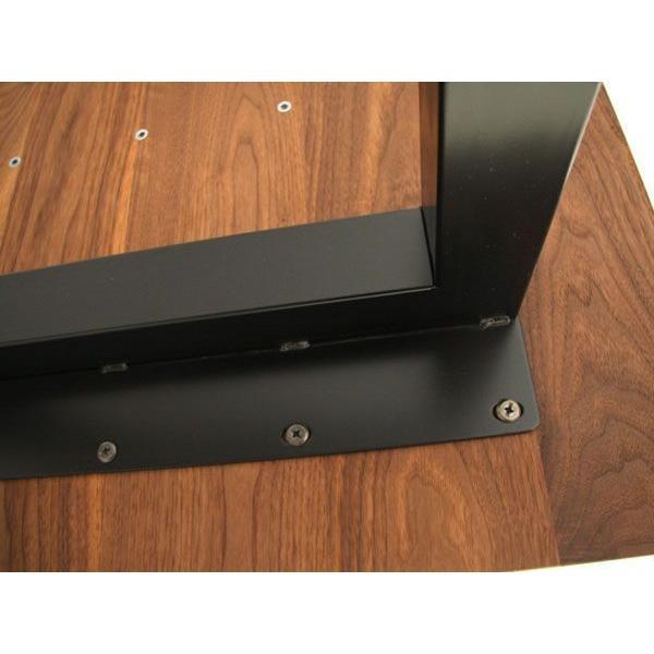 マスターウォール ワイルドウッド ダイニングテーブル W1600  ウォールナット スチールレッグス WWDT16065SL-WN Masterwal|esprit|04