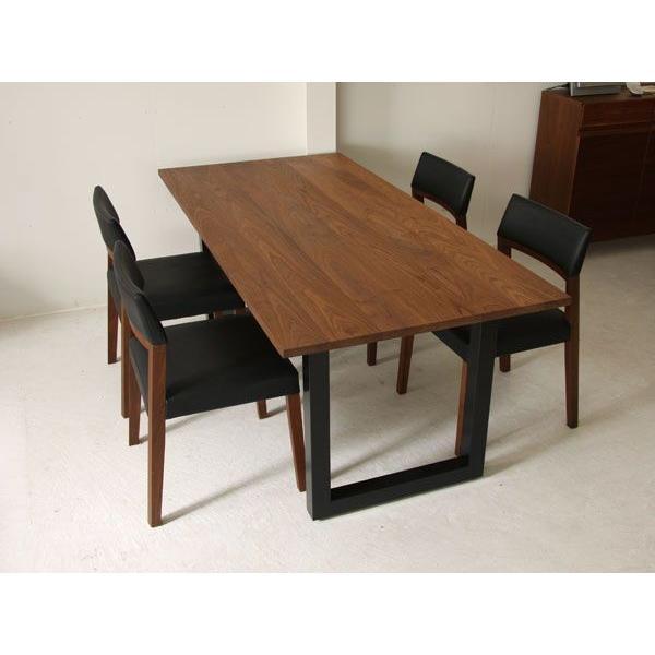 マスターウォール ワイルドウッド ダイニングテーブル W1600  ウォールナット スチールレッグス WWDT16065SL-WN Masterwal|esprit|06
