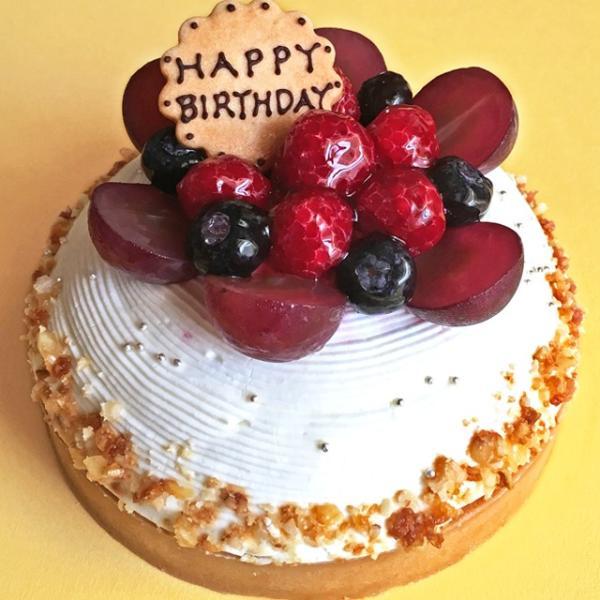 木苺のホワイトバースデーケーキ14cm バースデーケーキ 誕生日ケーキ お中元 スイーツ ケーキ 苺 タルト お取り寄せ