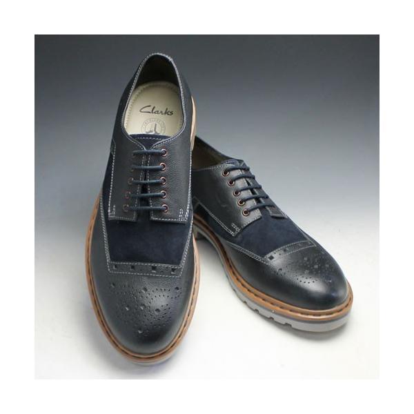 クラークス/Dargo Limit(ダーゴリミット)/411E (ネイビー)/26110286/メンズ 靴|essendo|02