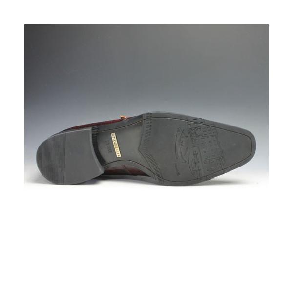 ビジネスシューズ MODELLO(モデーロ)/クロコ型押しの牛革(モンクストラップ)/DM5026(レッド)/3E|essendo|06