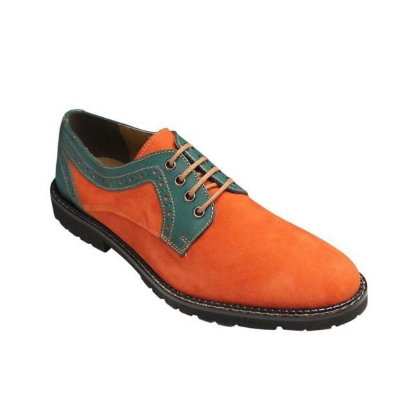 MODELLO(モデーロ)/スエード素材の軽量カジュアルシューズ(プレーントゥ)/DM5032(オレンジ)/3E/メンズ 靴|essendo