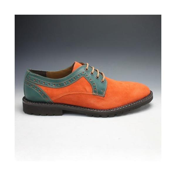 MODELLO(モデーロ)/スエード素材の軽量カジュアルシューズ(プレーントゥ)/DM5032(オレンジ)/3E/メンズ 靴|essendo|03