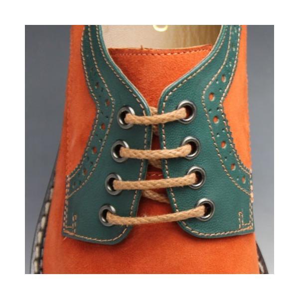MODELLO(モデーロ)/スエード素材の軽量カジュアルシューズ(プレーントゥ)/DM5032(オレンジ)/3E/メンズ 靴|essendo|04