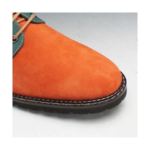 MODELLO(モデーロ)/スエード素材の軽量カジュアルシューズ(プレーントゥ)/DM5032(オレンジ)/3E/メンズ 靴|essendo|05