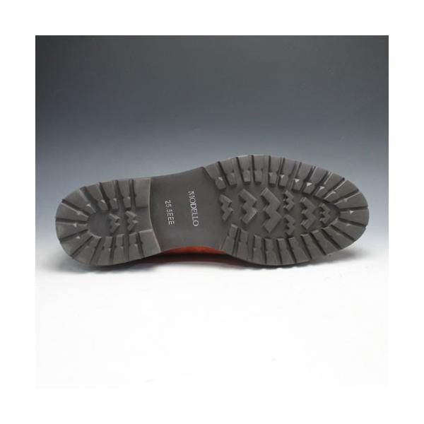 MODELLO(モデーロ)/スエード素材の軽量カジュアルシューズ(プレーントゥ)/DM5032(オレンジ)/3E/メンズ 靴|essendo|06