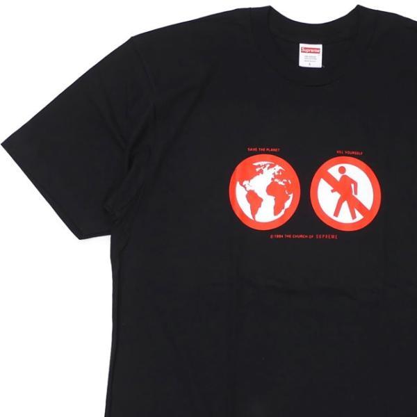 新品 シュプリーム SUPREME Save The Planet Tee Tシャツ BLACK ブラック 黒 メンズ 新作 半袖Tシャツ