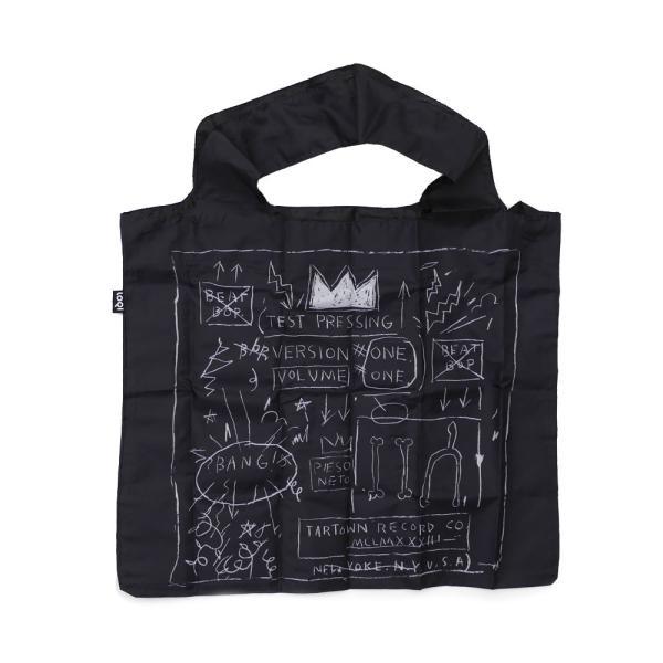 ジャン ミシェル バスキア Jean-Michel Basquiat x ローキー LOQI Crown Bag エコ トートバッグ BLACK ブラック 277002684011 グッズ