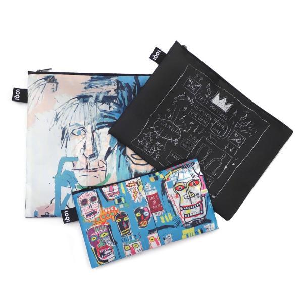 ジャン ミシェル バスキア Jean-Michel Basquiat x ローキー LOQI Zip Pouch Set ポーチ バッグ 3個セット MULTI マルチ 288001223019 グッズ
