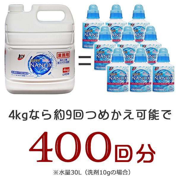 トップ スーパーナノックス 4Kg+詰め替え用 空ボトル1本 esthenojikan 02