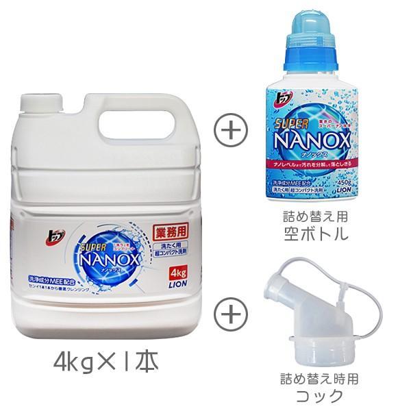 トップ スーパーナノックス 4Kg+詰め替え用 空ボトル1本 esthenojikan 03