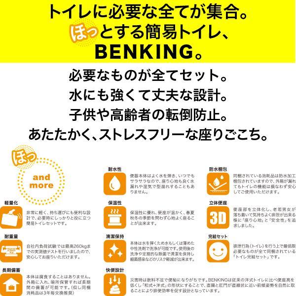 災害用組立式簡易トイレ BENKING(ベンキング) スリム(14日分相当)日本製(アウトドア 長距離ドライブ 畑仕事 介護 医療現場 企業ノベルティ)|estim|02