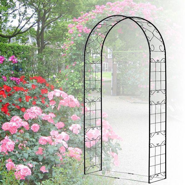 バラ アーチ スチール製ガーデンアーチ08 組立式 つる性植物を絡ませるのに最適|estoah