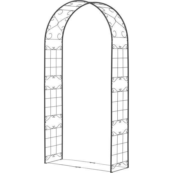 バラ アーチ スチール製ガーデンアーチ08 組立式 つる性植物を絡ませるのに最適|estoah|02