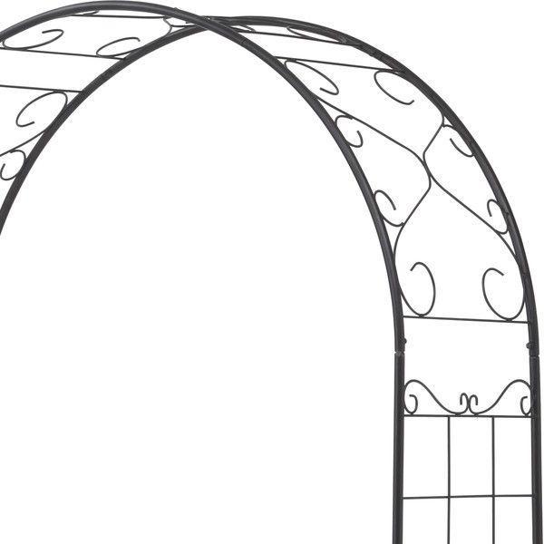 バラ アーチ スチール製ガーデンアーチ08 組立式 つる性植物を絡ませるのに最適|estoah|03