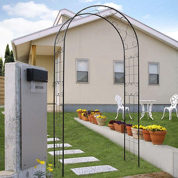 バラ アーチ スチール製ガーデンアーチ08 組立式 つる性植物を絡ませるのに最適|estoah|04