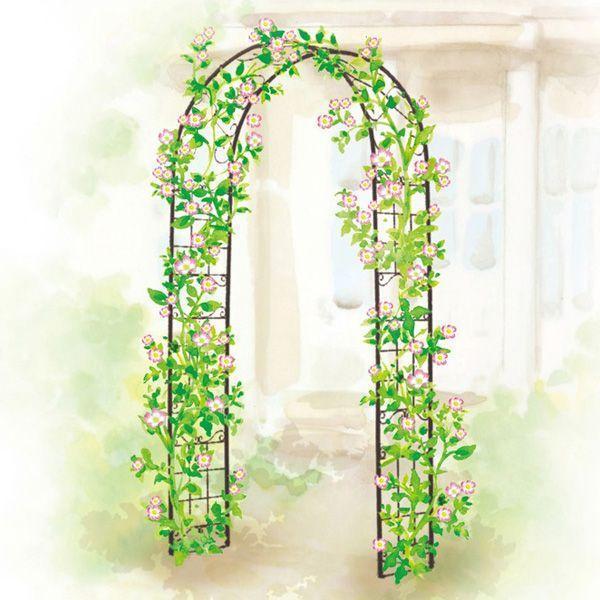 バラ アーチ スチール製ガーデンアーチ08 組立式 つる性植物を絡ませるのに最適|estoah|05