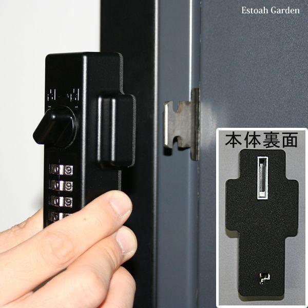 防犯グッズ ドア用補助錠 玄関ドアの鍵 どあロックガード ダイアルタイプ|estoah