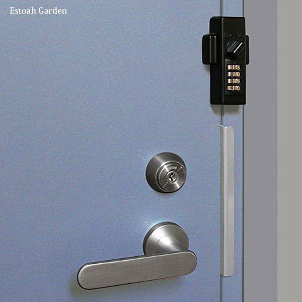防犯グッズ ドア用補助錠 玄関ドアの鍵 どあロックガード ダイアルタイプ|estoah|04