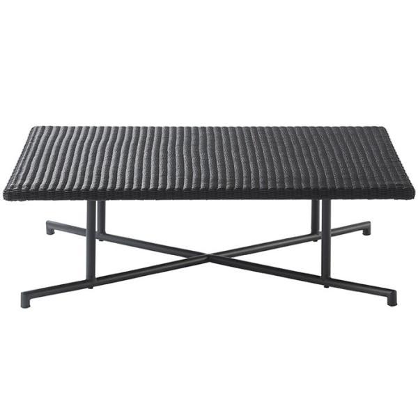 ガーデンテーブル 人工ラタン 屋外用 テーブル パティオプティ MA-ローテーブル W920×D920×H310mm 組立品 高級  ガーデン家具