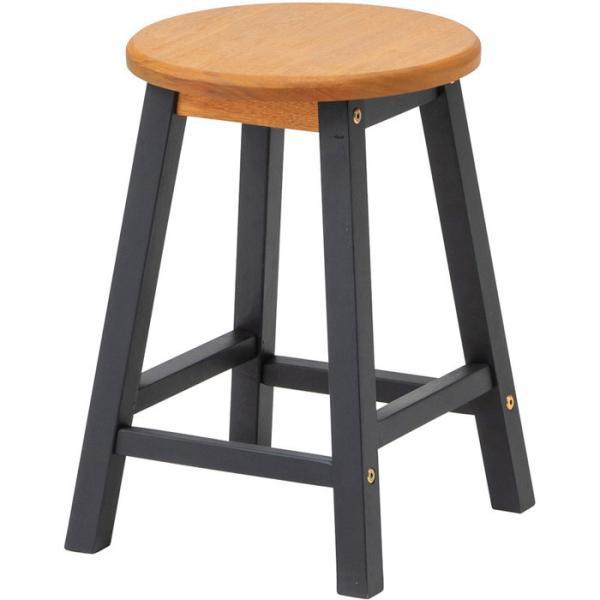 ガーデン チェア 天然木 ユーカリ材 マリーウッド スツール ノワール 1脚 幅30×奥行30×高さ42cm 組立式 椅子 いす 送料無料