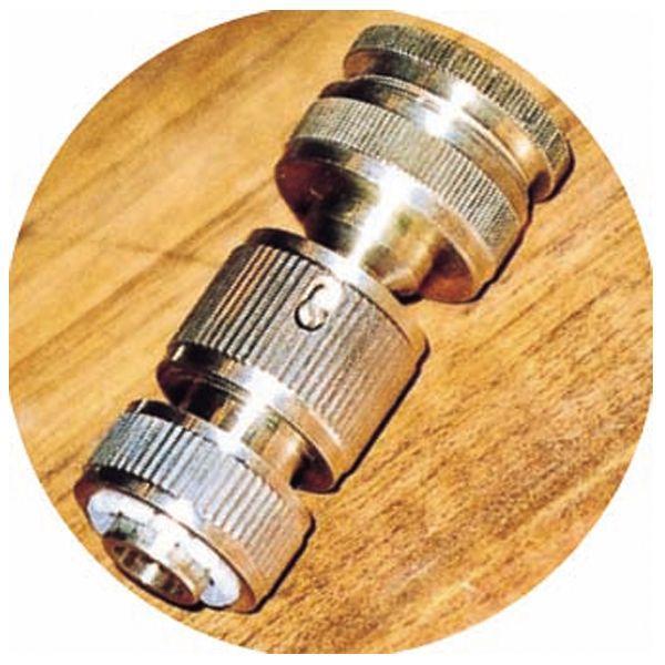 蛇口 部品 立水栓/水栓柱に蛇口先端金具 専用ホースアダプターセット品 真鍮 ガーデン蛇口 水回り フォーセット ガーデニンググッズ 散水用品