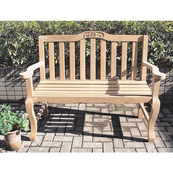 ベンチ ガーデンベンチ 木製 手作りベンチ チーク材 ガーデン家具ベンチ ガーデンファニチャー 完成品
