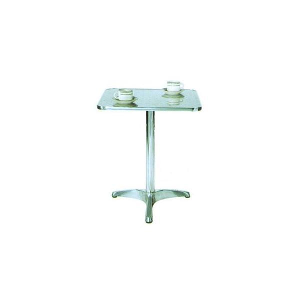 ガーデンテーブル カフェテーブル アルミテーブル角YTS2-60 ガーデン家具テーブル ベランダ ガーデニングテーブル