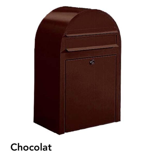ポスト 郵便受け 壁掛け郵便ポスト デザインポスト ボビ ショコラ 前入れ前出し 鍵付き スタンド対応可 集合住宅対応