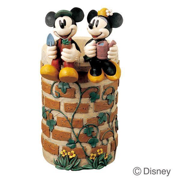傘立て かさ立て ディズニー ミッキーマウスとミニーマウス 受け皿付き  ガーデンニング雑貨|estoah