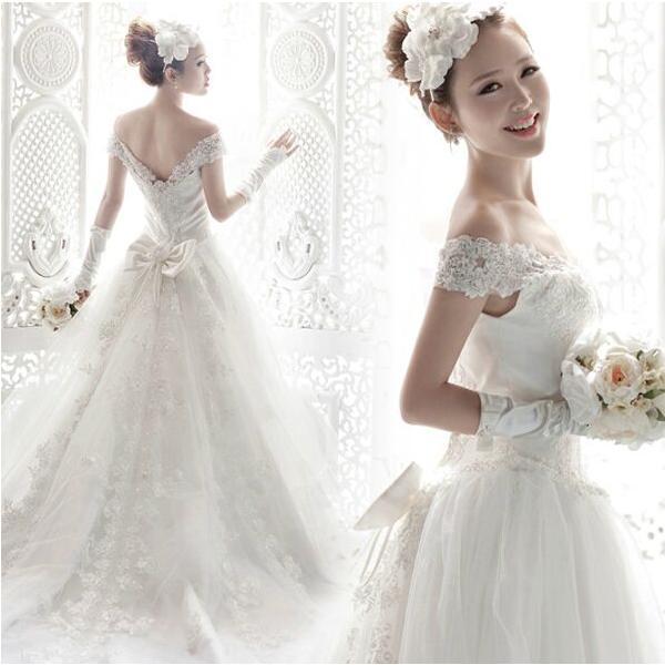 7e57da4464f15 ウェディングドレス ベール 二次会 結婚式 披露宴 花嫁 衣装 スレンダー レース ストール ロングドレス 韓国風 大きいサイズ