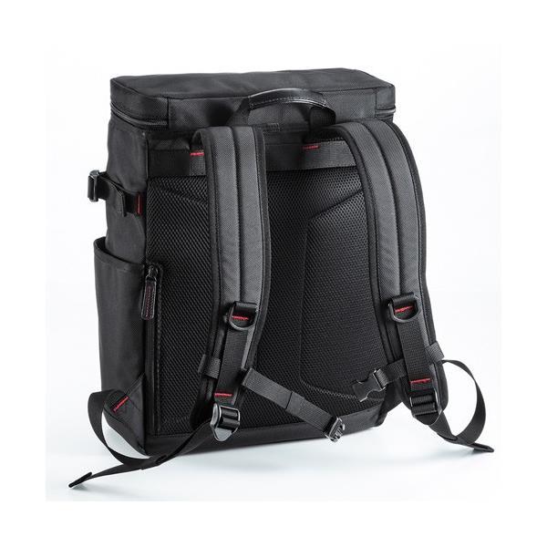 訳あり新品 ビジネスリュック 軽量 メンズ iPad A4 ポケット 通勤 黒 外装にキズ、汚れあり EES-BAG-EXE10 サンワサプライ ネコポス非対応