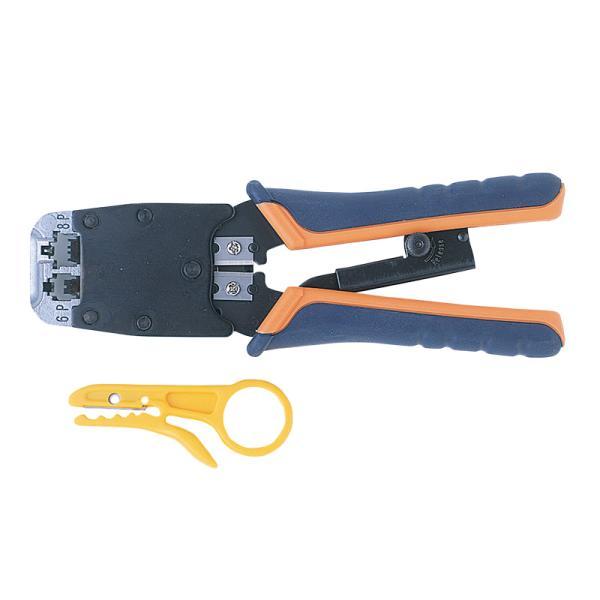訳あり新品 LANケーブル用かしめ工具 ラチェット付き パッケージにキズ、汚れあり HT-500R サンワサプライ
